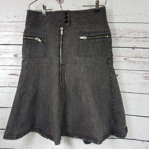 Mixit  Women Denim jeans Skirt, Black Color Size 8